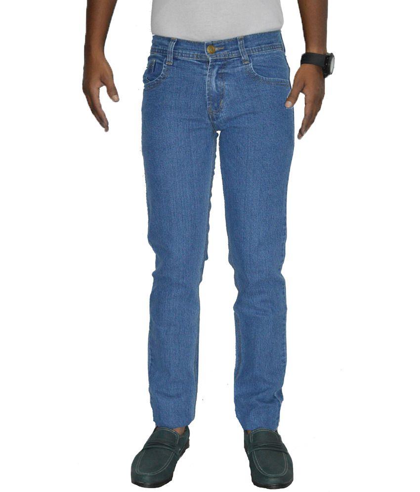 Benz Navy Cotton Regular Fit Jeans
