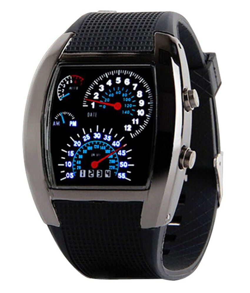 bolt black men digital wrist watch buy bolt black men