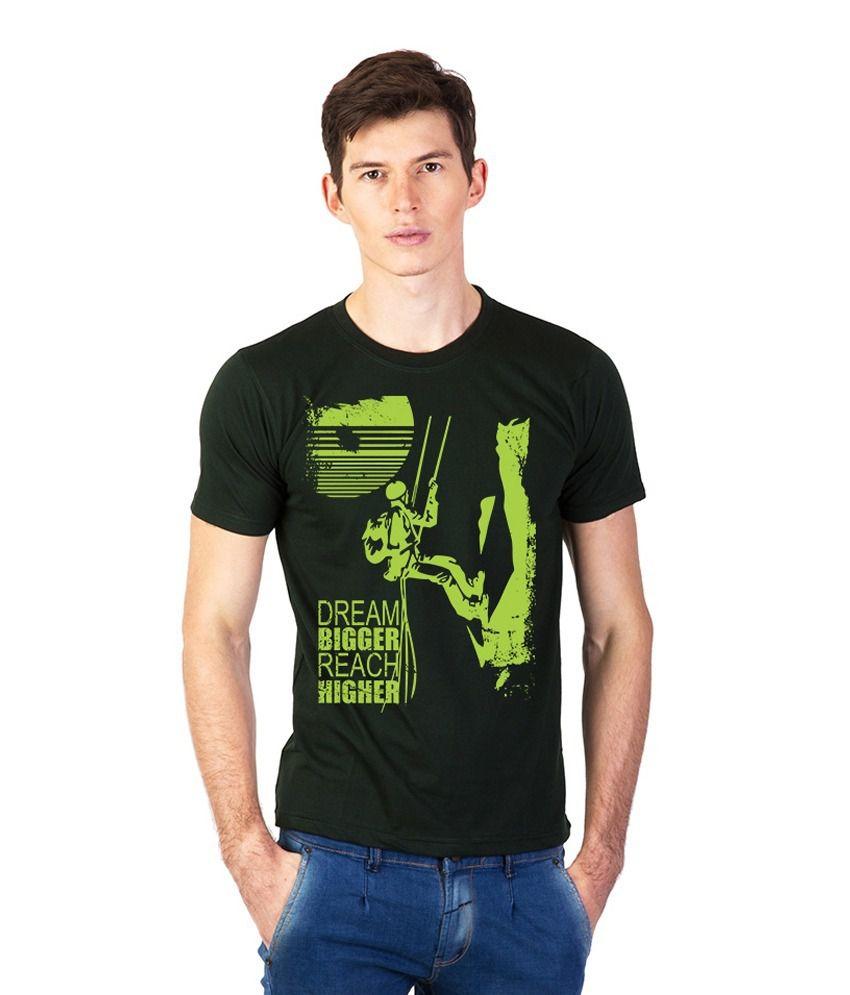 Effit Green Cotton Round Neck T-Shirt