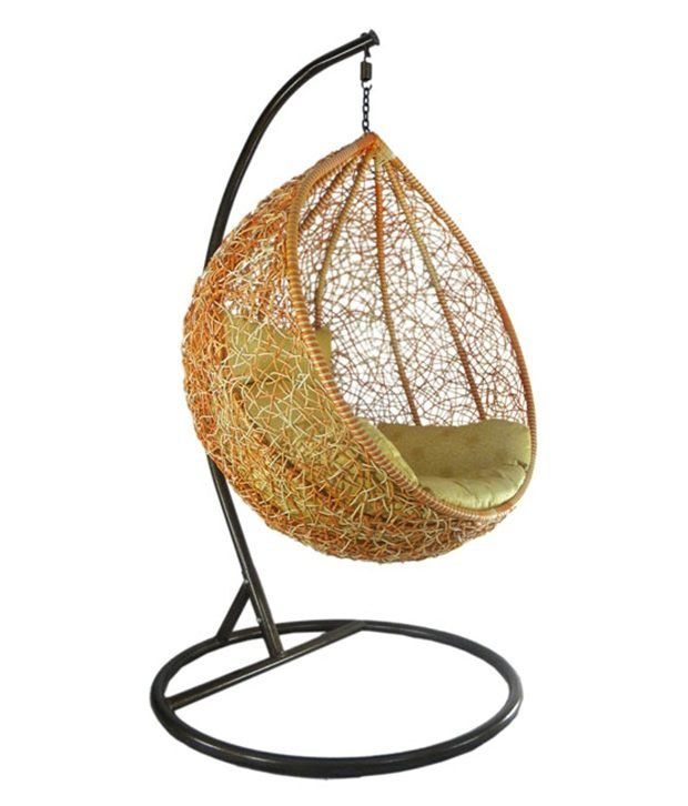 one seater hanging swing chair with cushions buy one seater rh snapdeal com