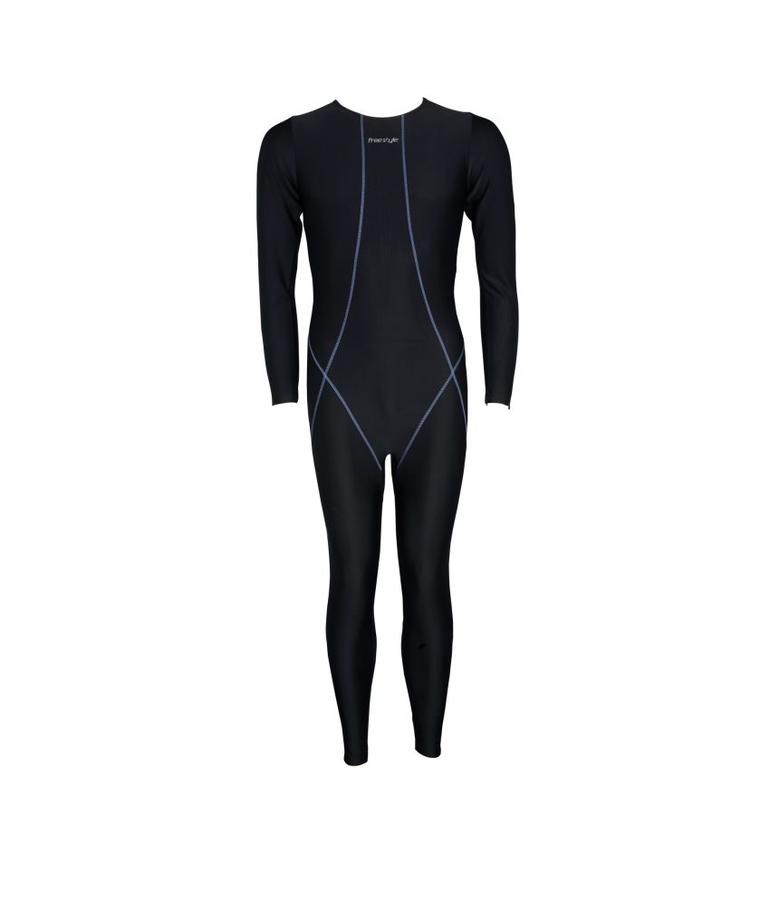 Freestyle Mens Swimwear Full Legsuit With YKK Zip/ Swimming Costume