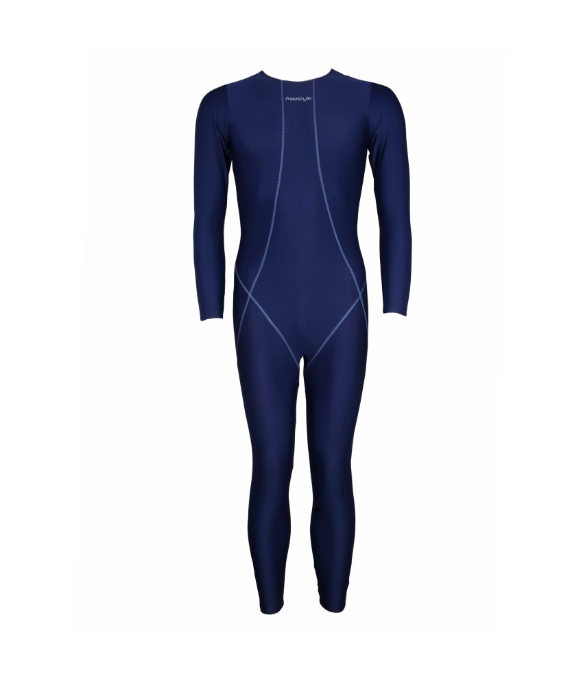 Freestyle Mens Swimwear Full Legsuit With YKK Zip/ Swimming Costume