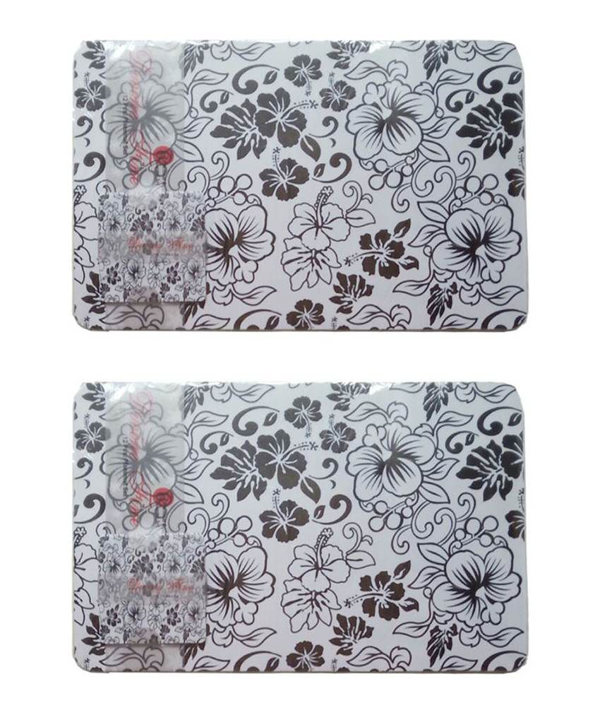Itrend India Beige Floral Table Mat 12pc Placemat Set