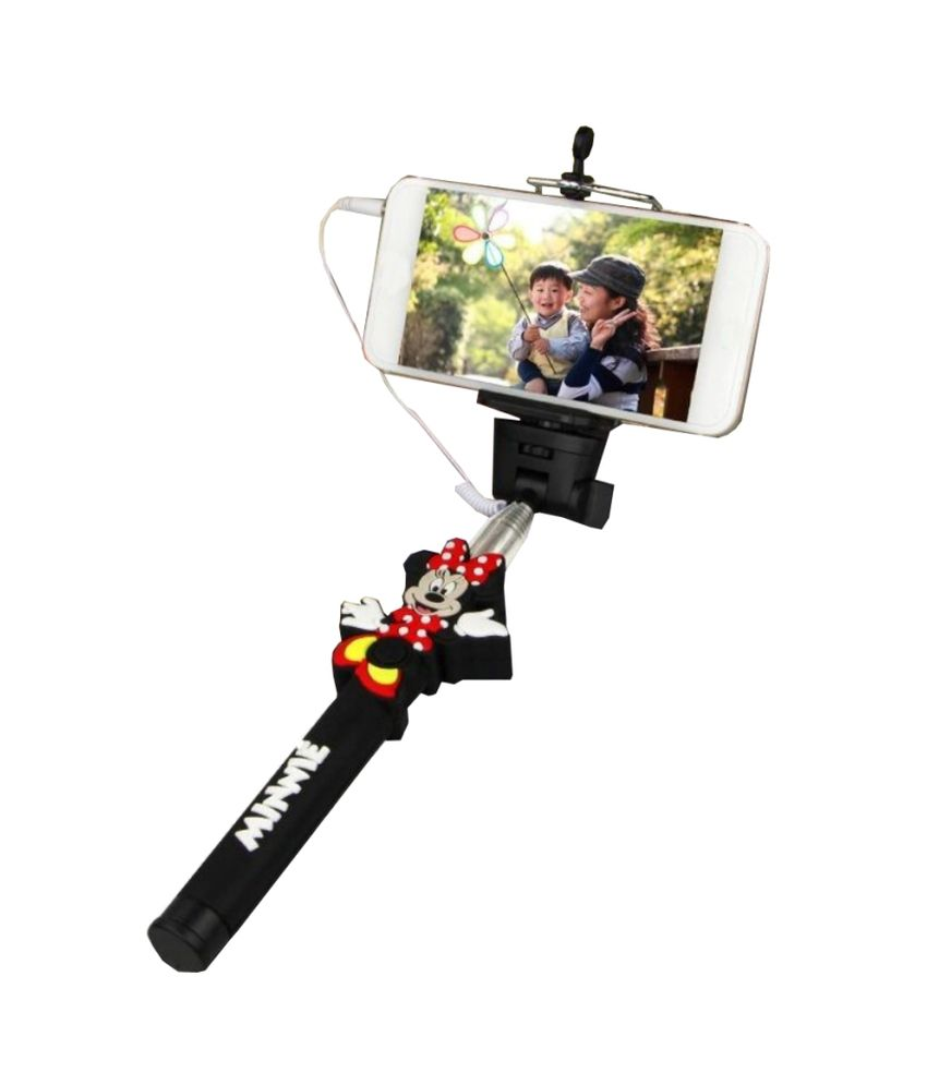Jo jo Jo Jo Minnie Mouse Selfie Wireless Bluetooth Handheld Self Timer Monopod Mount Holder