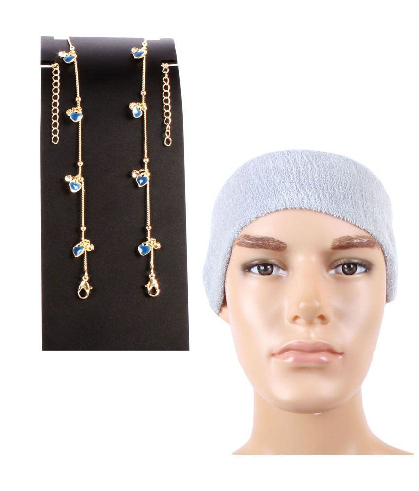 Jstarmart Hearts Anklet With Head Wrap