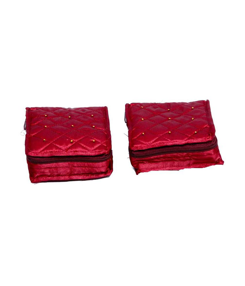 Kuber Industries Jewellery Kit In Satin - Combo Of 2