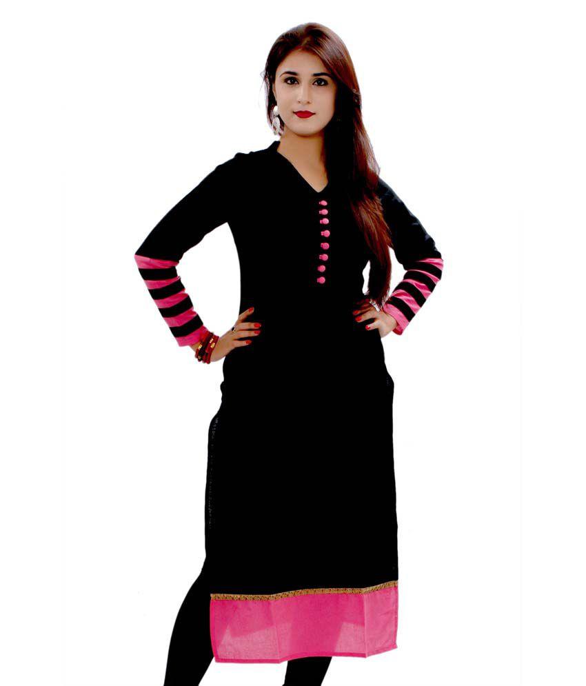 Sukanyaa Exclusive Designer Cotton Rayon Plain Fancy