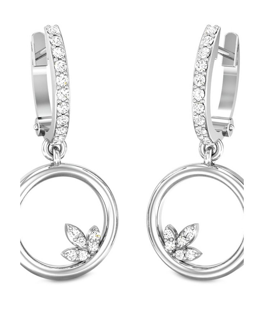 Candere Queenie Diamond Earrings White Gold 18K