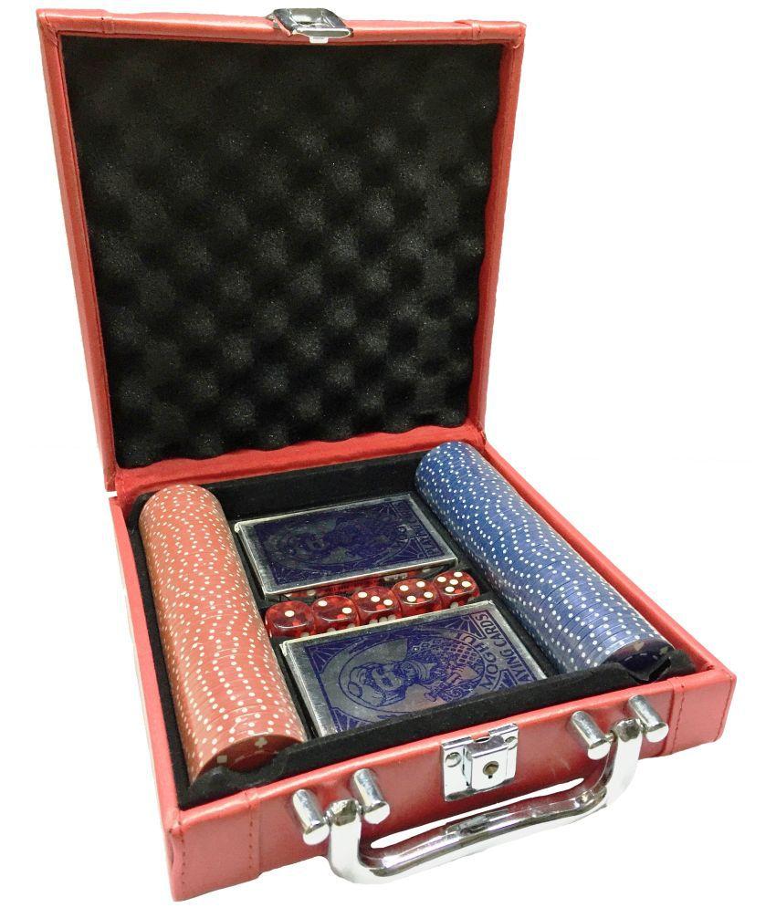 Nakshatra Gifts Poker Kit With Professional Chips And Elegant Case