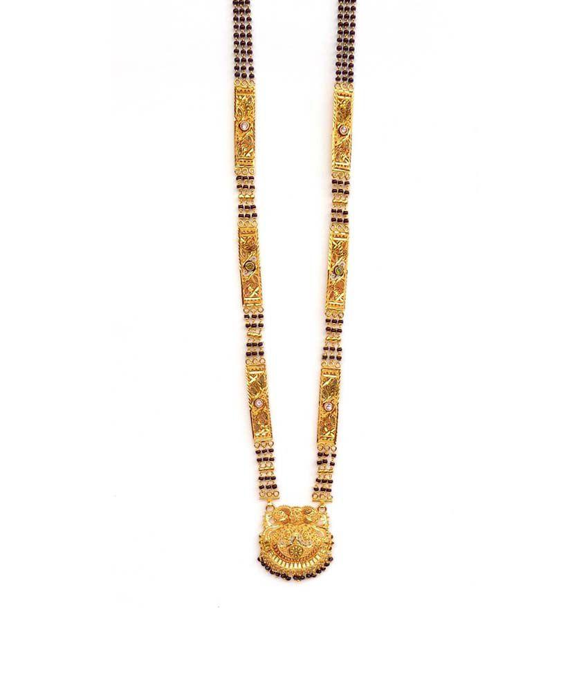 NishiZ 2 Gram Gold Forming Antique Design Mangalsutra: Buy