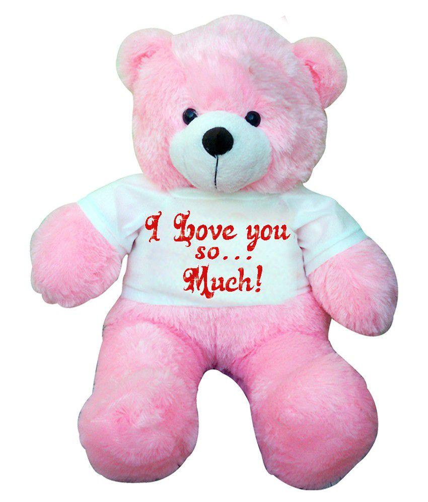 Pick n play 2 feet big pink teddy bear i love you buy pick n play pick n play 2 feet big pink teddy bear i love you altavistaventures Choice Image