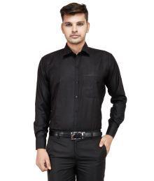 Frankline Black Cotton Blend Shirt