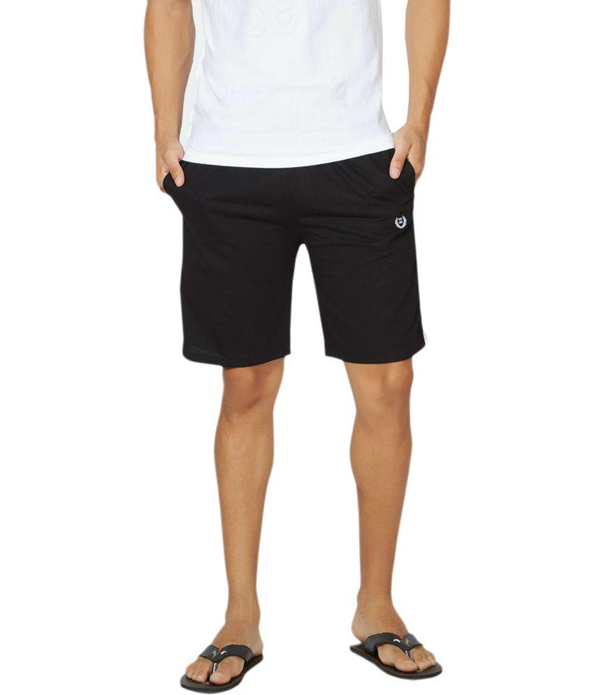 Alan Jones Clothing Black Cotton Shorts