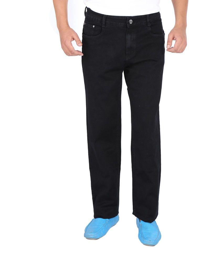 Denim-O Black Cotton Jeans