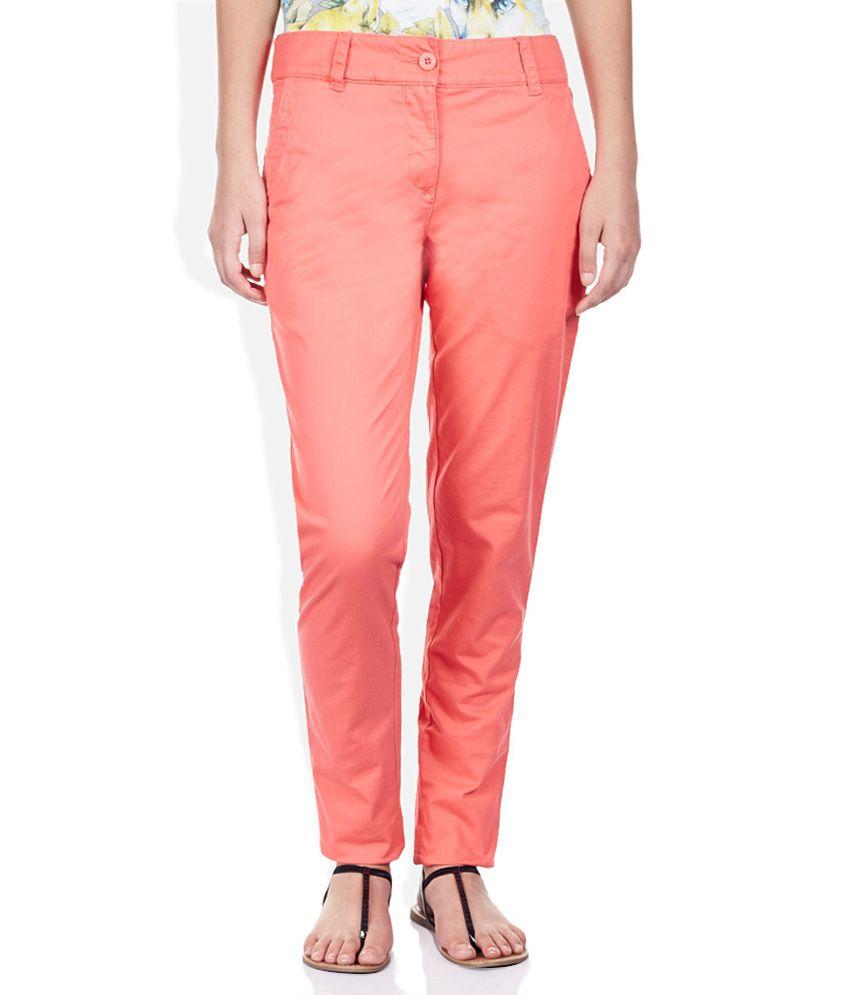 Puma Orange Cotton Trousers