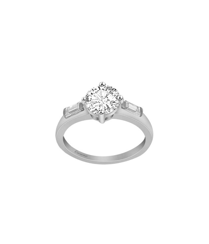 Ciemme 92.5 Sterling Silver 0.46 Ct CZ Solitare Ring