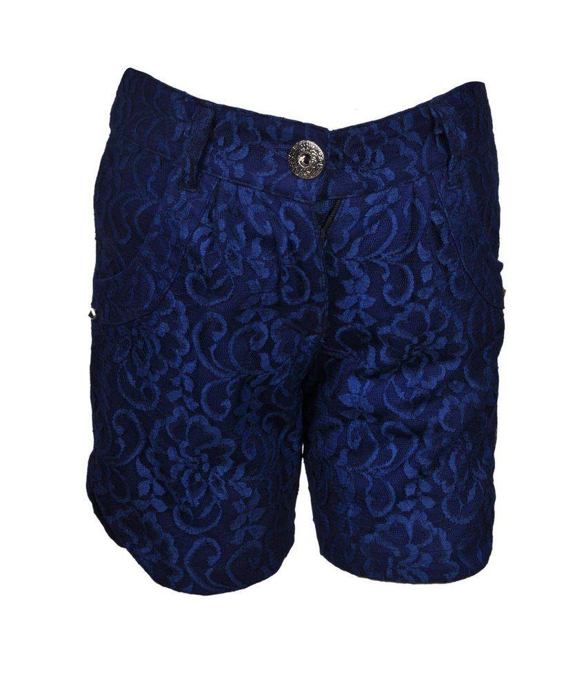 Cool Quotient Royal Blue  Lace Shorts For Kids