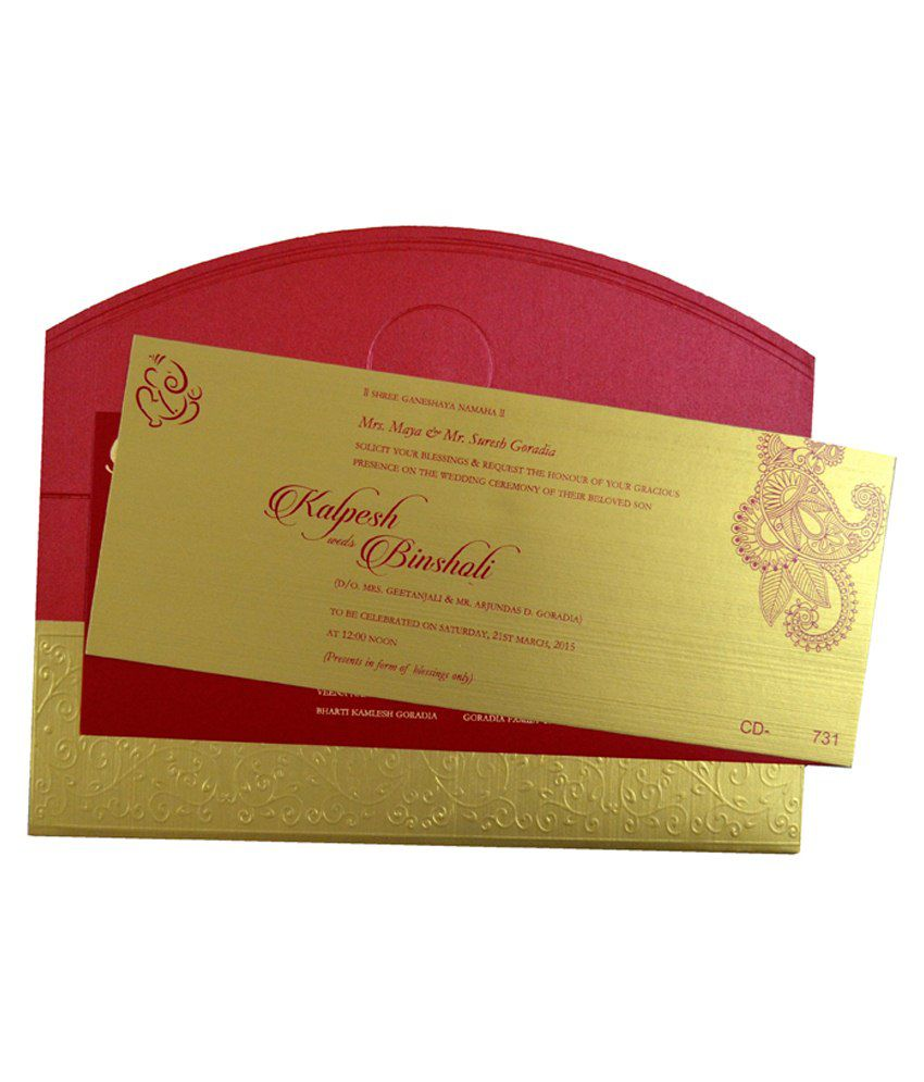 Indian Card Mall Multicolour Paper Wedding