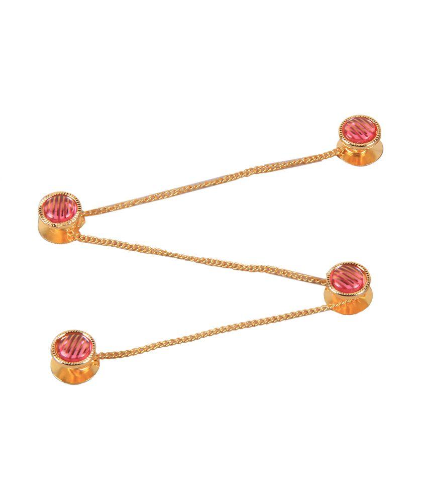 Jstarmart Pink Colour Spark Coloured Bead Kurta Button