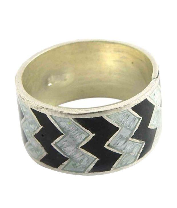 Miska Silver 92.5 Sterling Silver Contemporary Ring
