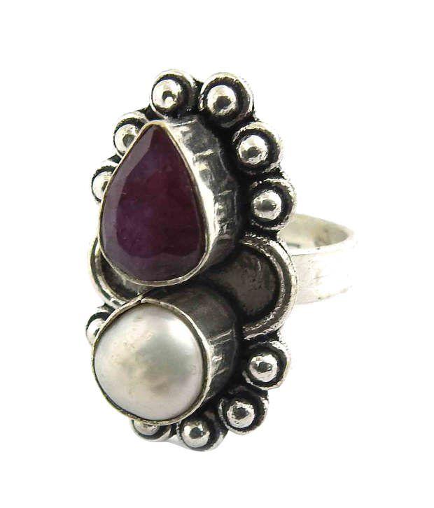 Miska Silver German Silver Contemporary Ring