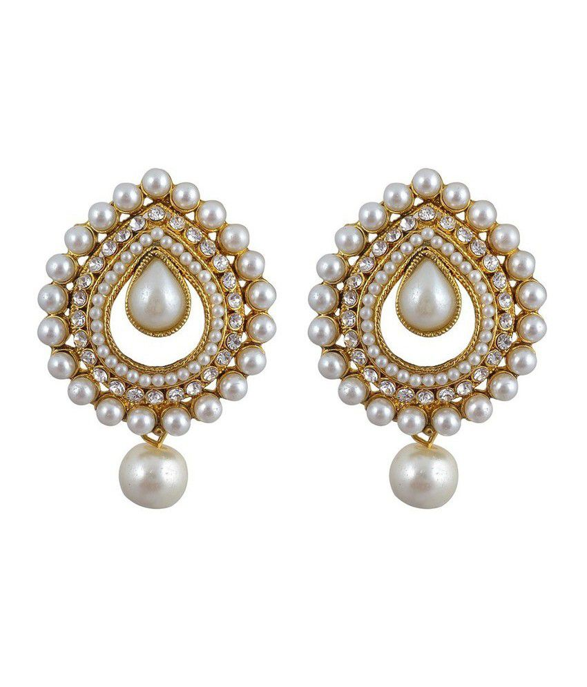 11 S Traditional Indian Pearl Earrings