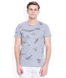 United Colors Of Benetton Gray Round Neck T-shirt