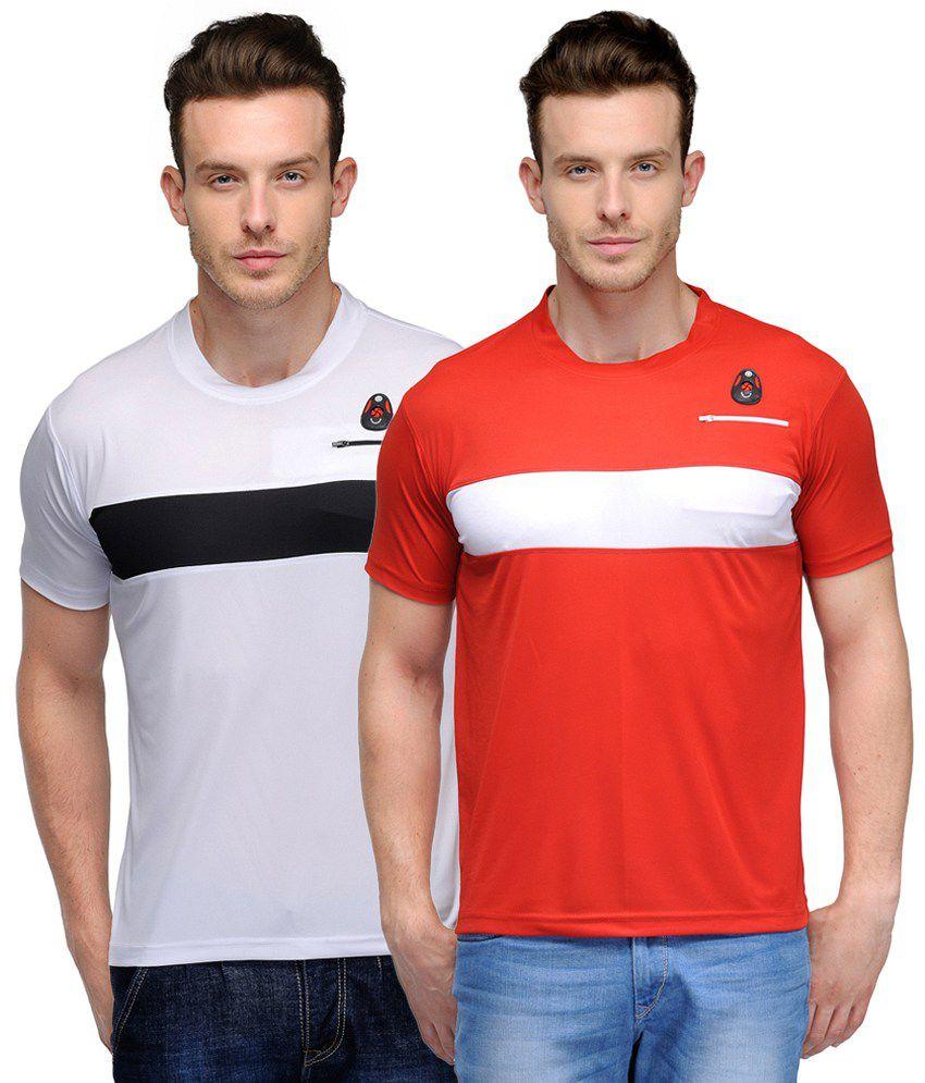 Scott International Crackle Sulphur Dryfit T-shirts - Pack of 2
