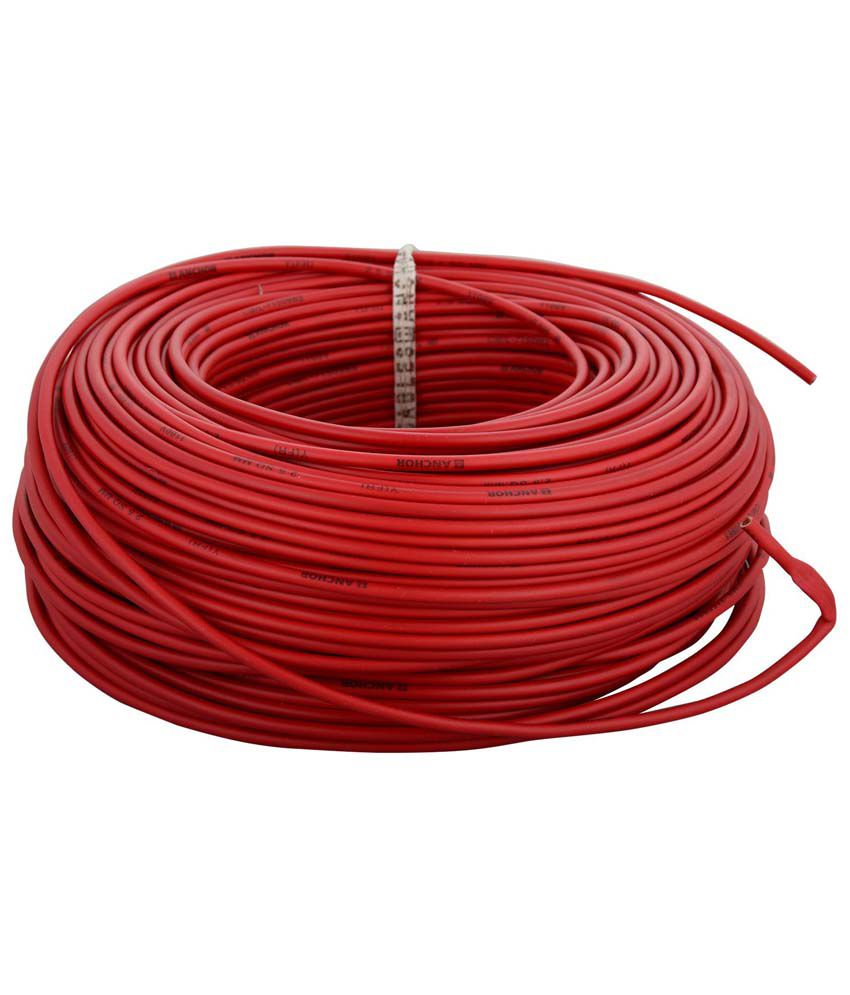 buy anchor red 90 meter 1 00 mm pvc insulated cable online at low rh snapdeal com