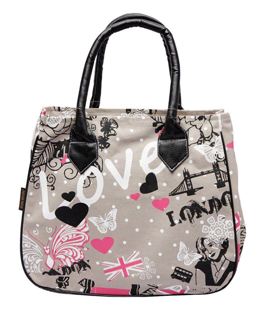 Kanvas Katha Gray Shoulder Bags