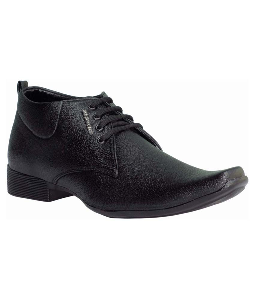 Marco Ferro Black Formal Shoes
