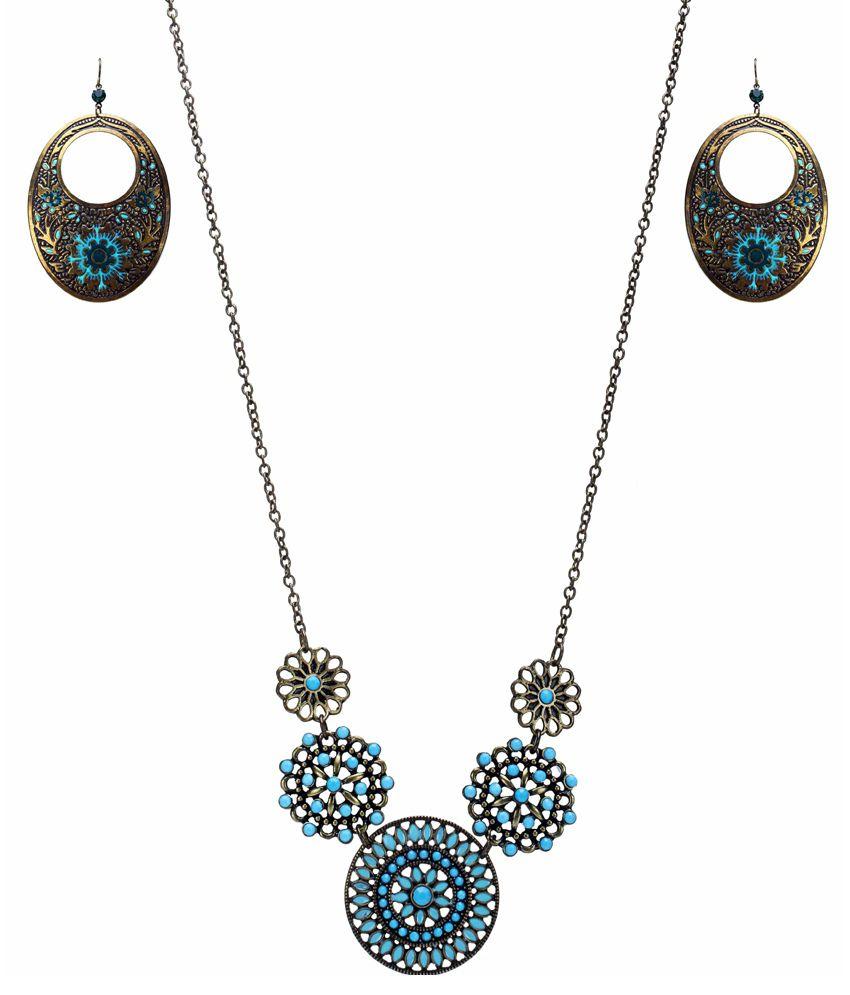 Shopyaha Contemporary Blue Necklace