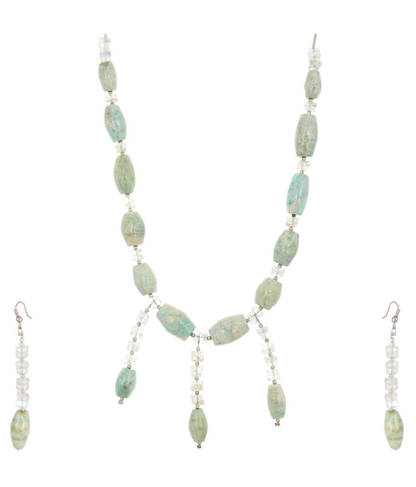 Yazat Precious Gems Colour Spark Necklace Set