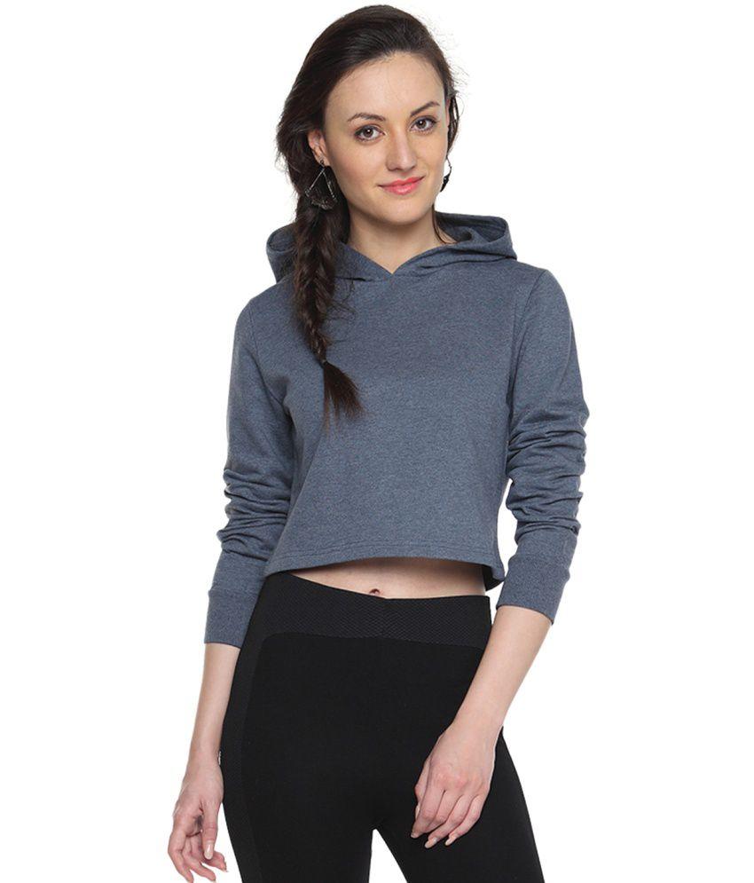Campus Sutra Blue Cotton - Fleece Non Zippered