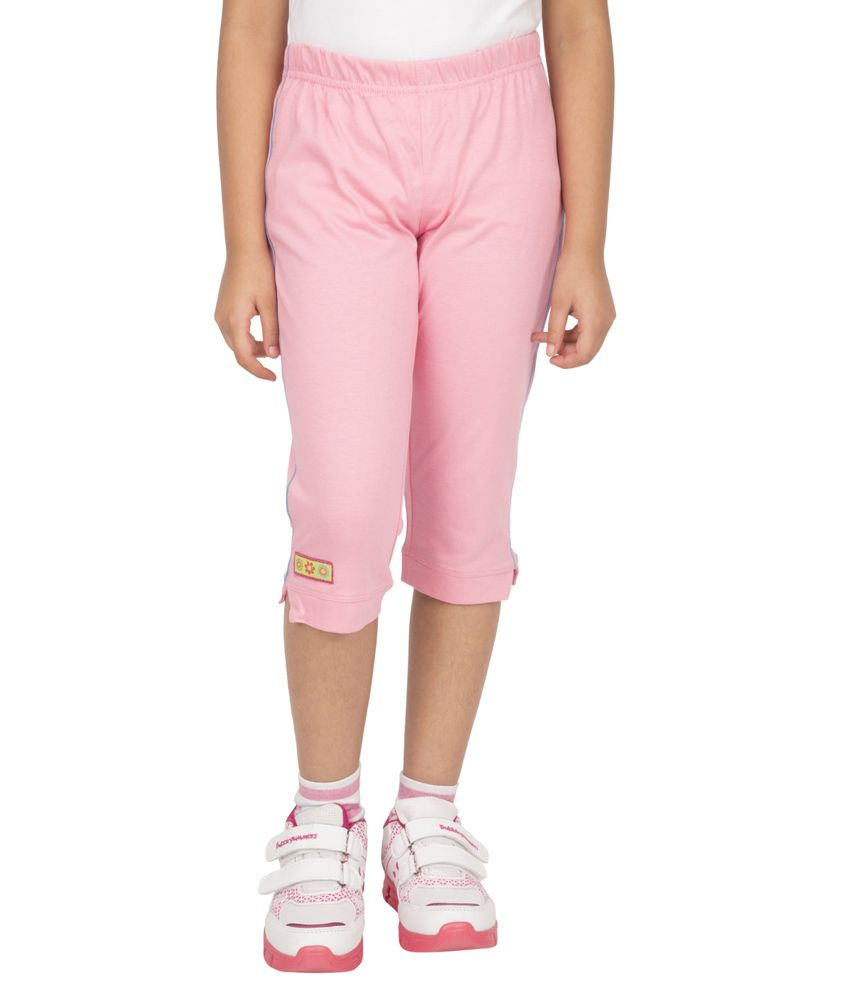 Ocean Race Pink Cotton Capris