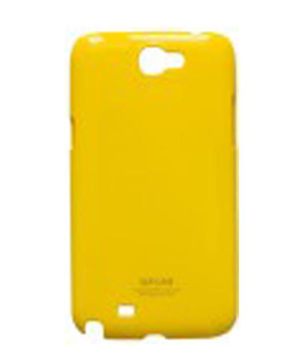 Backer Yellow Silicon Soft Back Cover For Samsung Galaxy Note 2  n7100  With Screen Guard available at SnapDeal for Rs.118