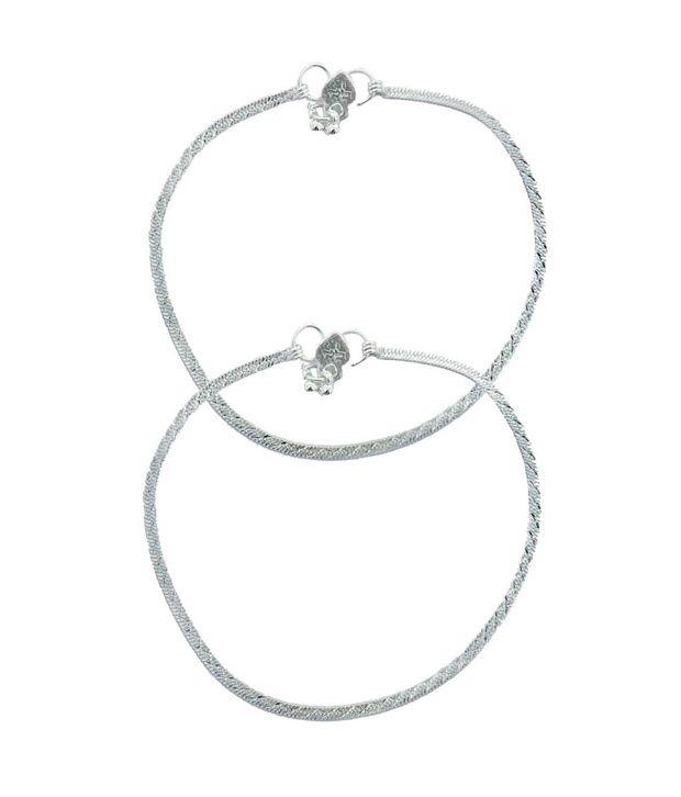 Beadworks Silver Designer Anklets