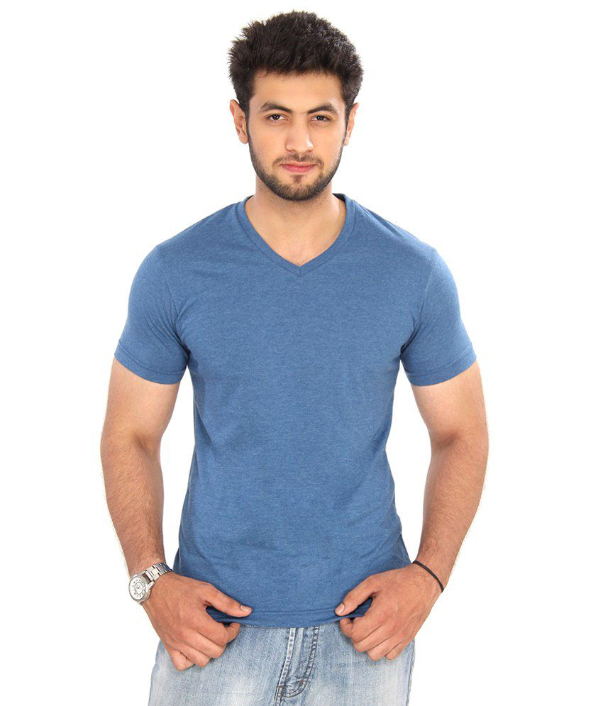 Bongio Blue Cotton T Shirt