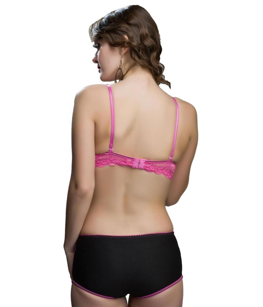 1b3109ad9f809 Buy College Girl Pink Bra   Panty Sets Online at Best Prices in ...
