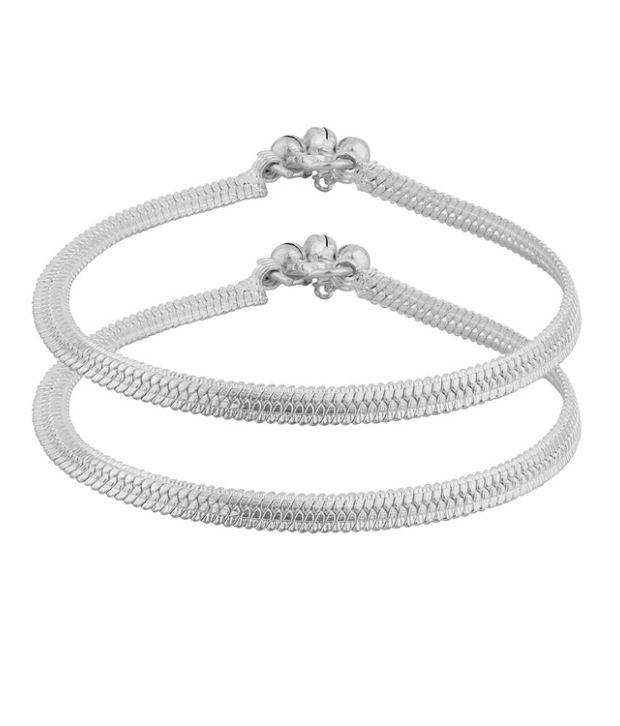 D&D Silver Linked Anklets