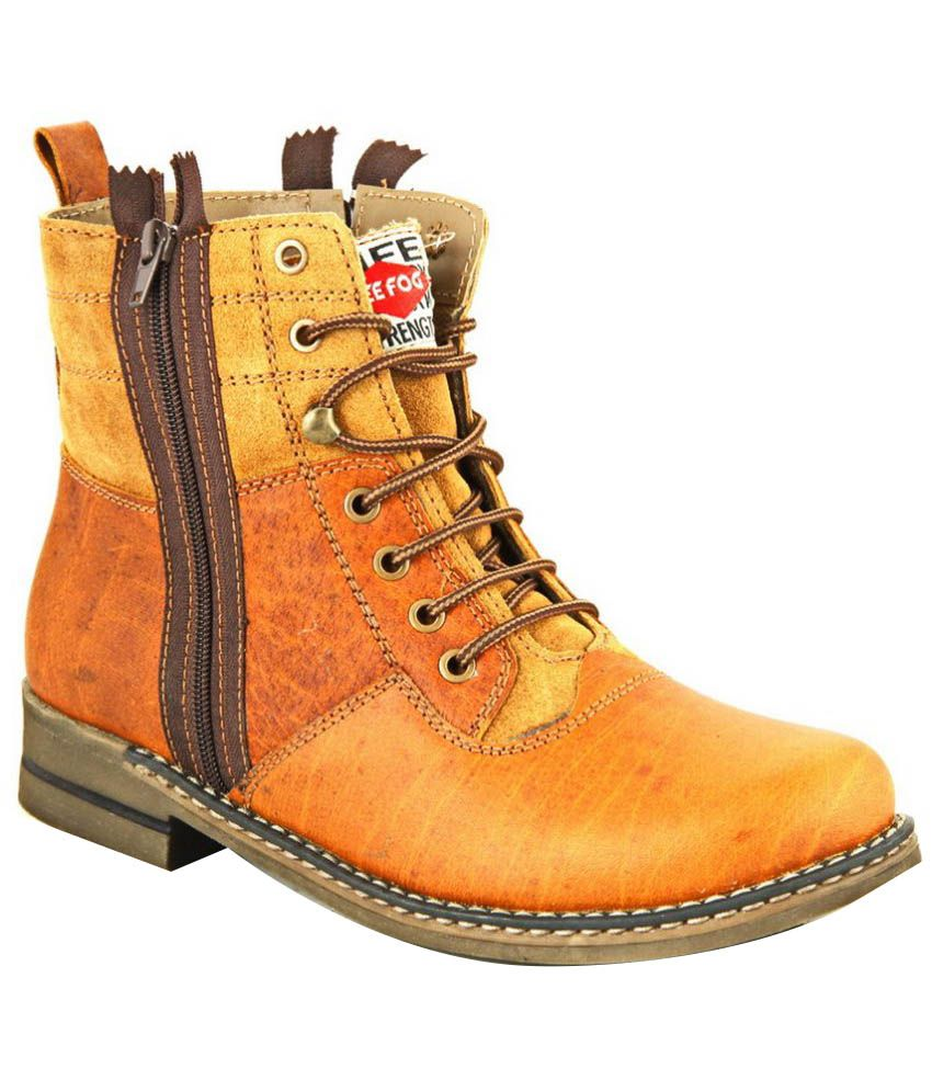 Lee Fog Tan Leather Boots