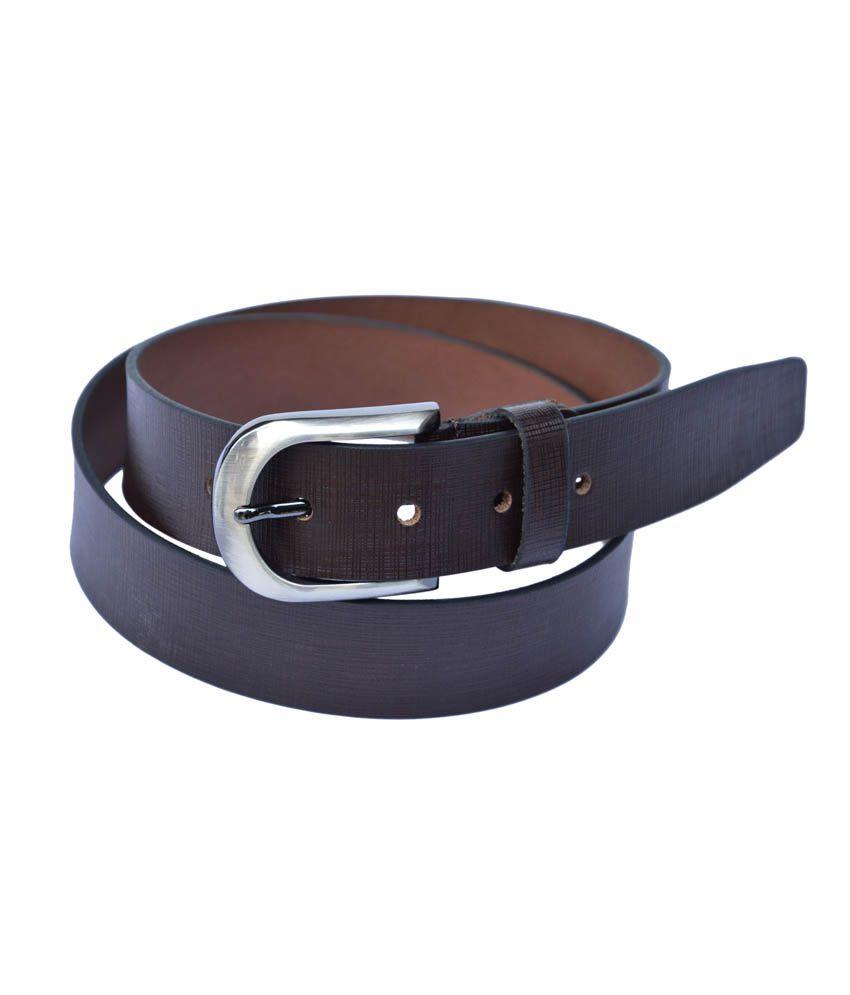 Manshkhino Brown Leather Pin Buckle Formal Belt
