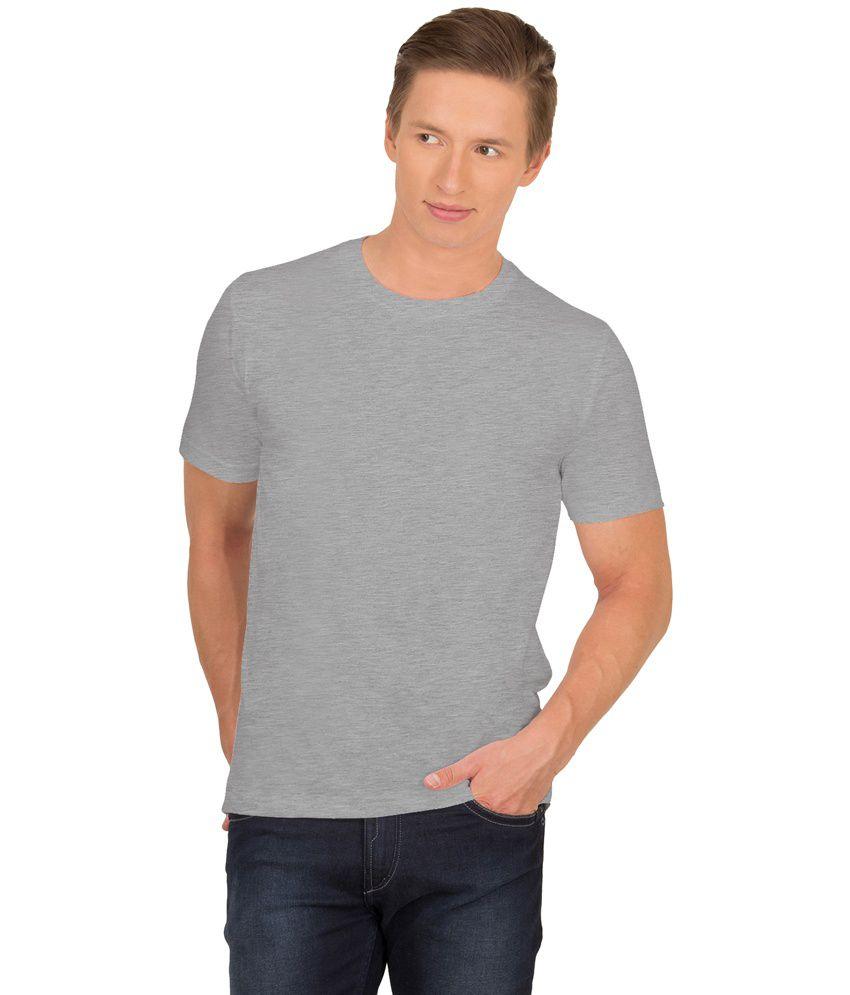 Urban Vibe Gray Cotton T Shirt