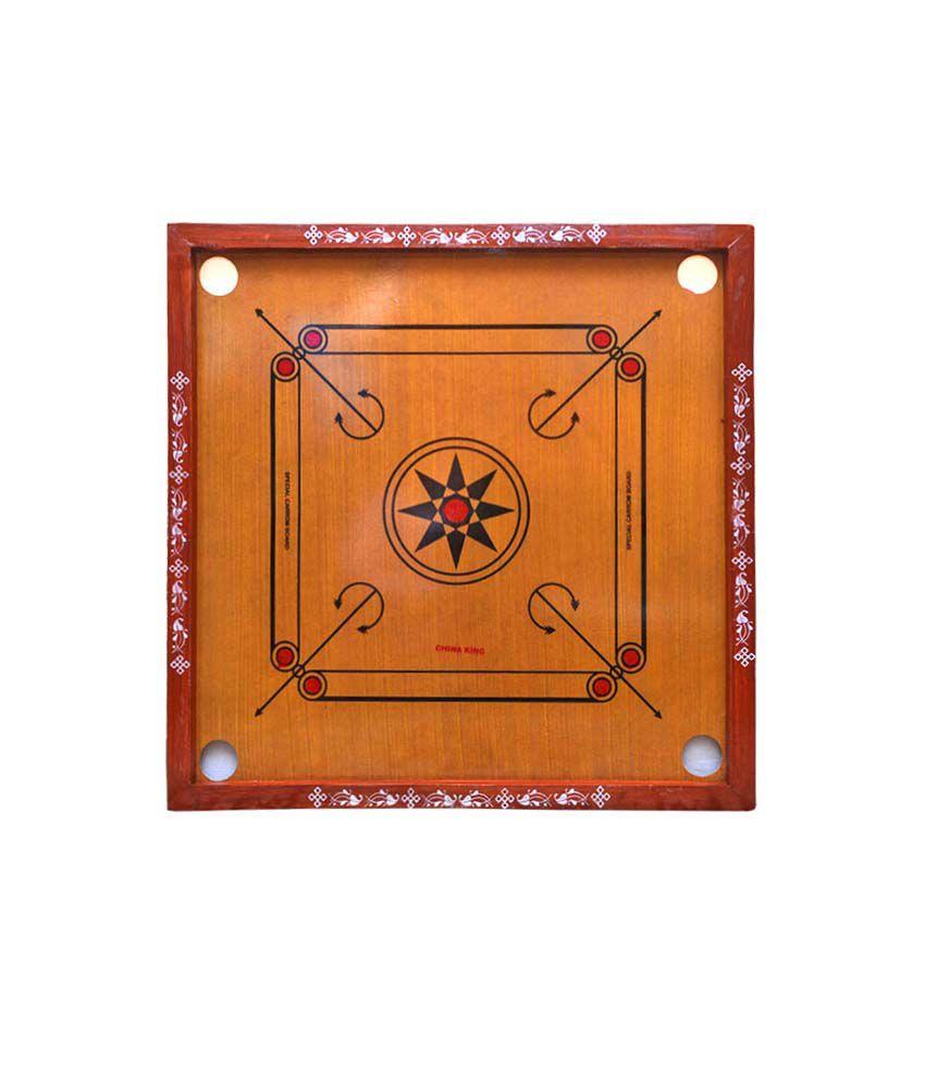 Port Light Brown Boxwood Carrom Board