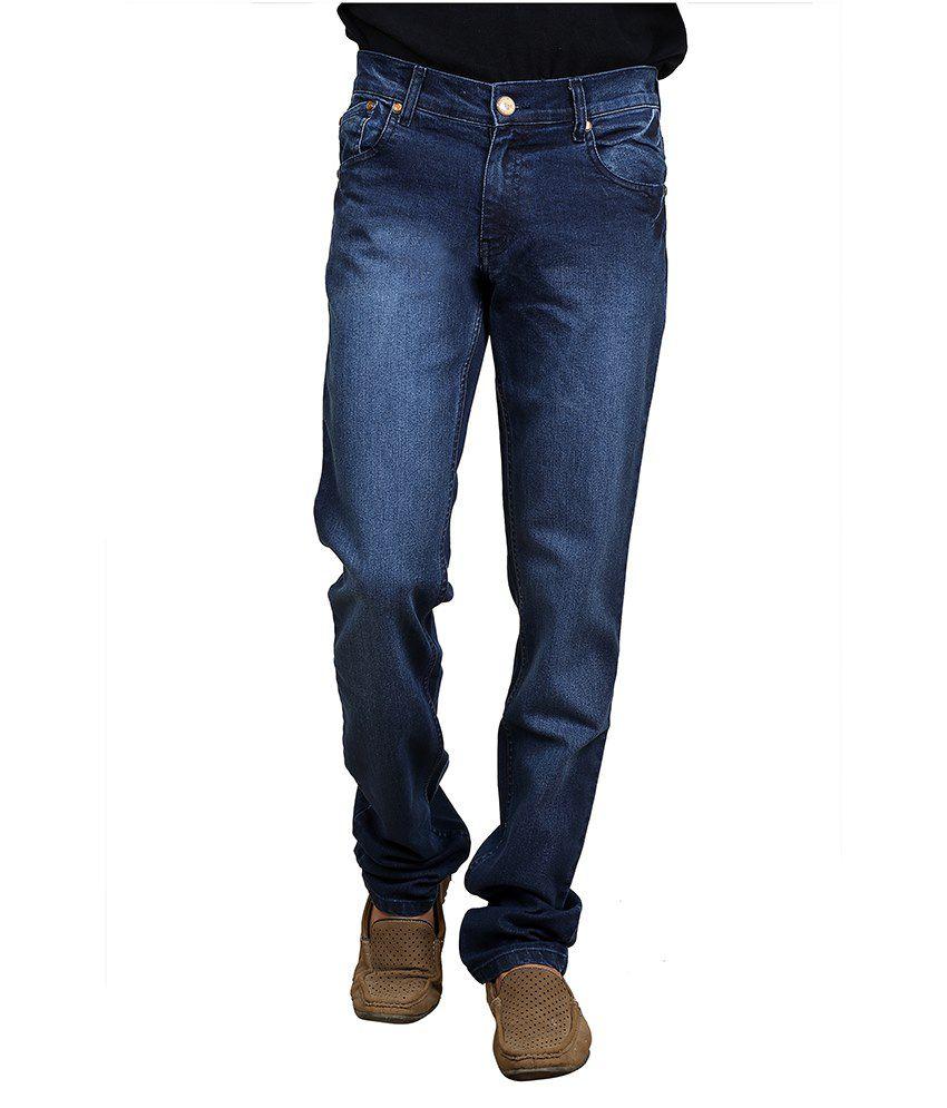 Hundred Degree Blue Cotton Blend Jeans