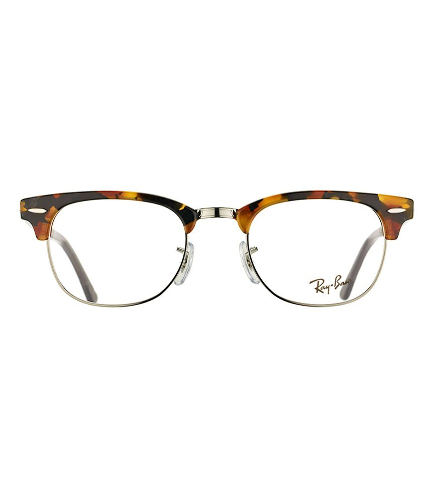 36ba8700c5a ... Ray Ban Brown Metal Clubmaster Full Rim Frame Eyeglasses RX5154-5491-51  ...