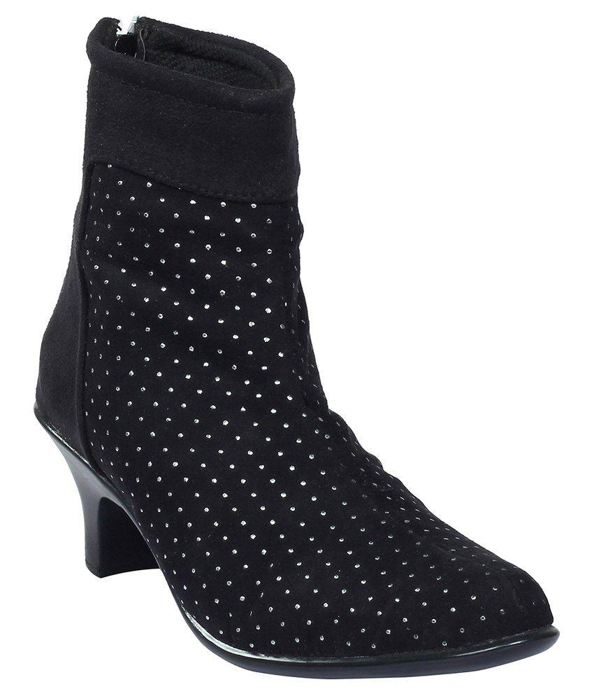 Shoe Bazar Black Stylish Boots