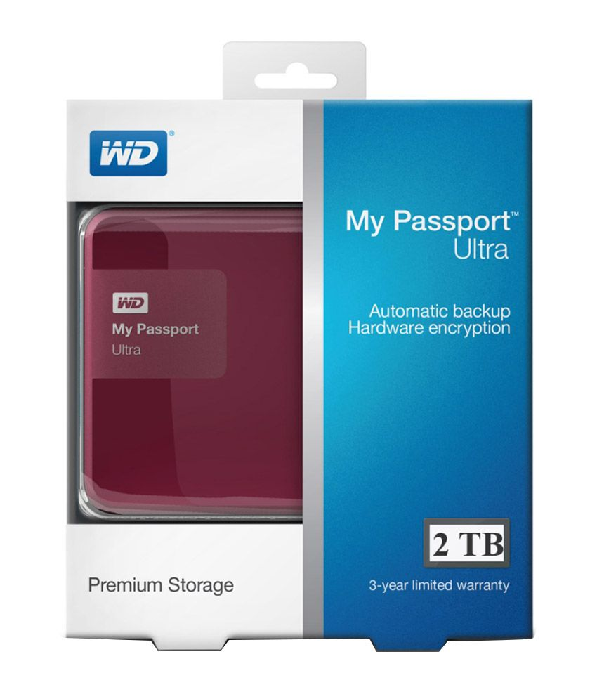 wd my passport ultra 2 tb usb 3 0 secure portable external hard drive berry buy rs. Black Bedroom Furniture Sets. Home Design Ideas