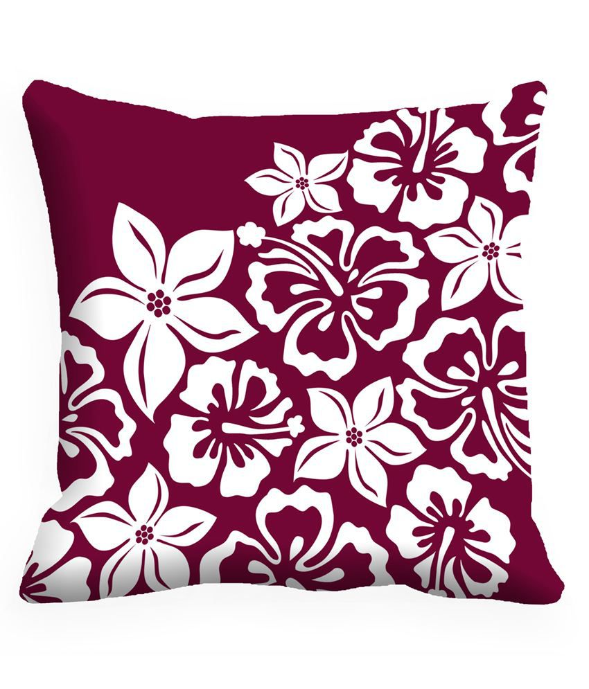 JDX Aabirah Classy Purple & White Digitally Printed Cushion Covers- Pack of 5