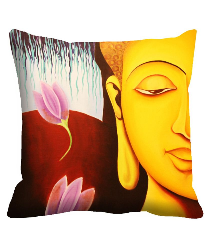 JDX Aabirah Pretty Yellow & Red Digitally Printed Cushion Covers- Pack of 5